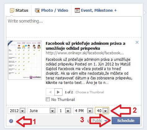 planovanie postov na facebooku