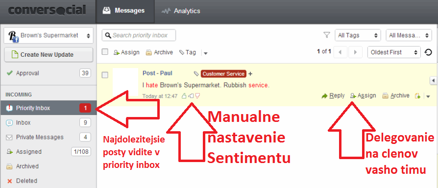 conver social priority inbox