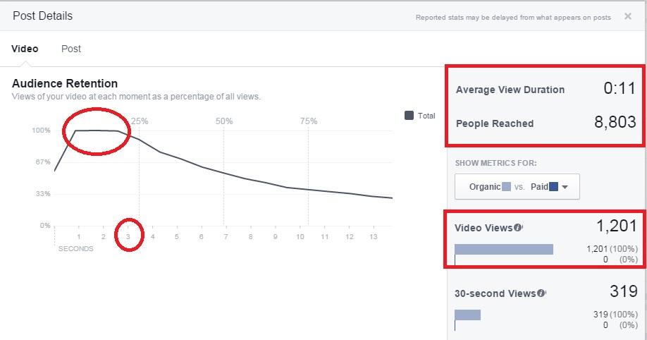 facebook videoslideshow duration